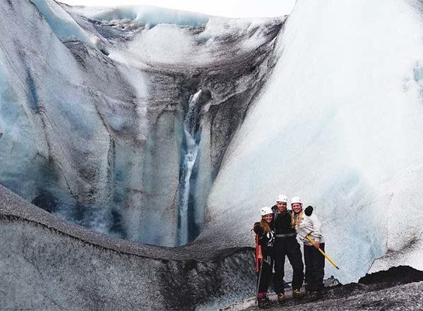 glacier walk iceland hali