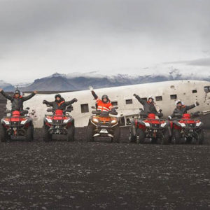iceland old plane wreck dc3 tour atv quad bike