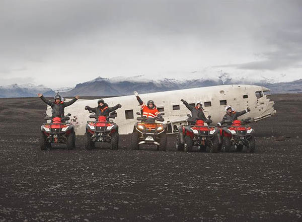 iceland old plane wreck dc3 tour atv quad bike