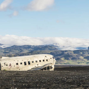 iceland old plane wreck dc3 tour atv quad bike 7