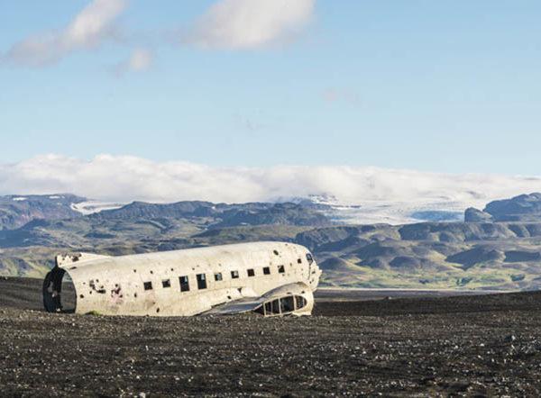 iceland old plane wreck dc3 tour atv quad bike 7